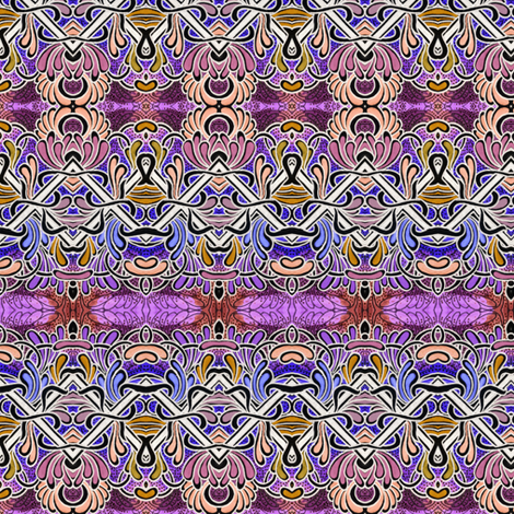 Zig Zag Horizontal Slime fabric by edsel2084 on Spoonflower - custom fabric