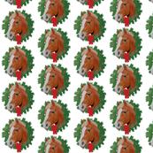 Christmas Chestnut Horse Pony