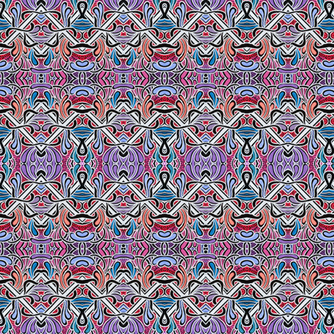 Dripping Nouveau Zig Zag fabric by edsel2084 on Spoonflower - custom fabric