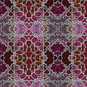 Pink, Purple, and Burgundy Abstract Patchwork # 835315