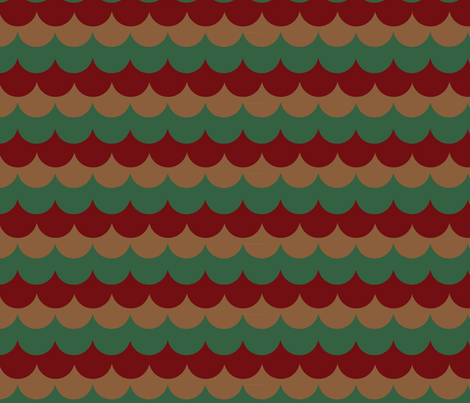 holiday-cedar-shingles-_2_ fabric by owlandchickadee on Spoonflower - custom fabric