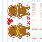 Cookie Cute 2013 Calendar (sized for Linen-Cotton)