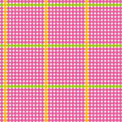 Pink dots with Yellow and Green lines