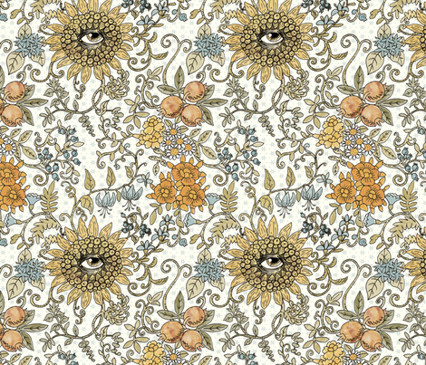 Mutant Helianthus Floral fabric by mutanthelianthus on Spoonflower - custom fabric