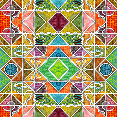 Geometric Parquet  fabric by edsel2084 on Spoonflower - custom fabric