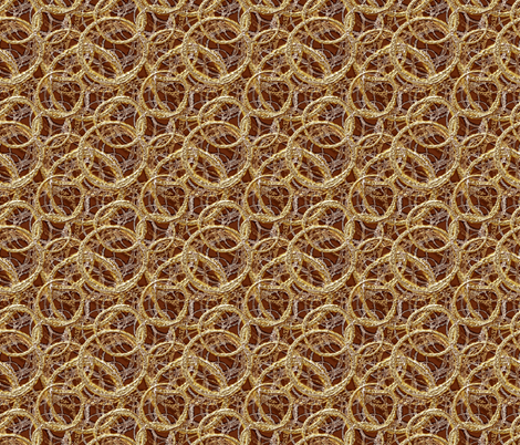 Mod Mercury coffee color circles, fabric by joanmclemore on Spoonflower - custom fabric