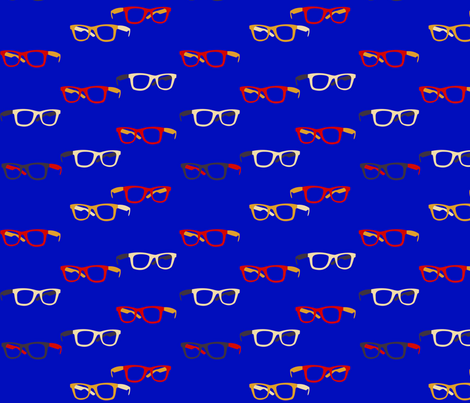 Hipster Glasses  fabric by yourfriendamy on Spoonflower - custom fabric
