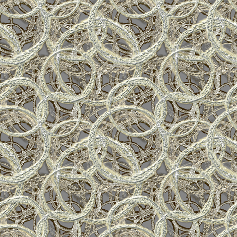 Mod Mercury silver circles fabric by joanmclemore on Spoonflower - custom fabric