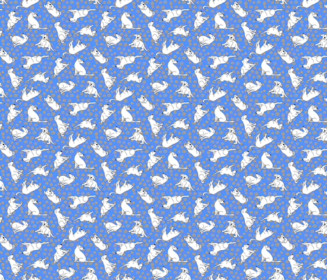 Charly blue bg fabric by thelazygiraffe on Spoonflower - custom fabric