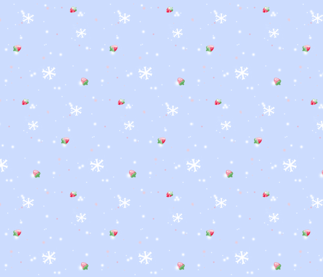 Strawberry Snow fabric by madam_neko on Spoonflower - custom fabric