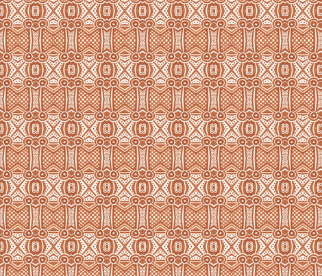 Sepia Diner fabric by siya on Spoonflower - custom fabric