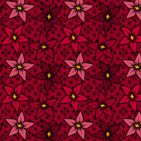 redflower fabric by glimmericks on Spoonflower - custom fabric