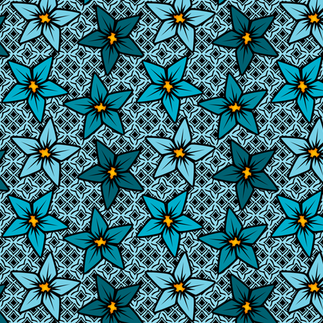 blueflower fabric by glimmericks on Spoonflower - custom fabric
