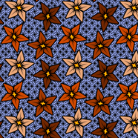 rustflower fabric by glimmericks on Spoonflower - custom fabric