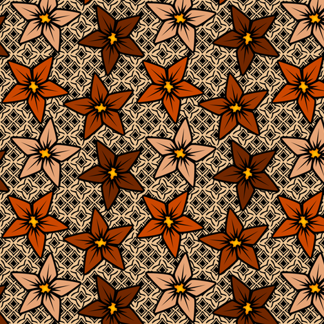 adobeflower fabric by glimmericks on Spoonflower - custom fabric