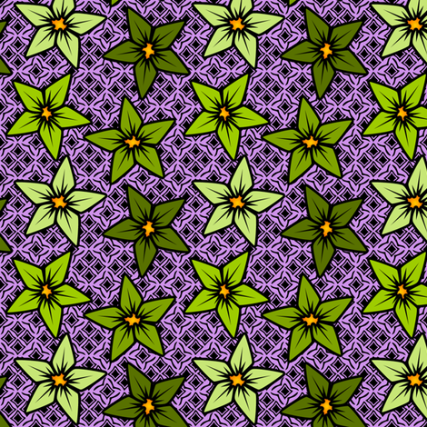 mintflower fabric by glimmericks on Spoonflower - custom fabric