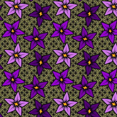 violetflower fabric by glimmericks on Spoonflower - custom fabric