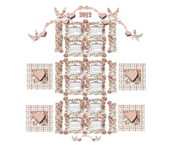 A Victorian Tea Towel Calendar for 2012