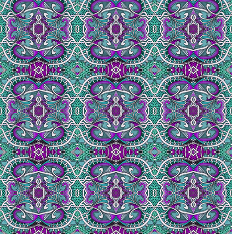 Teal Purple Dragon Skin Medallions fabric by edsel2084 on Spoonflower - custom fabric
