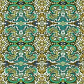 Dragon Skin Love in olive and teal