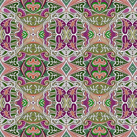 Battle of the Elephant Ear House Plants fabric by edsel2084 on Spoonflower - custom fabric