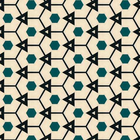 Retro Hexagons fabric by stoflab on Spoonflower - custom fabric