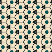 Retro Hexagons