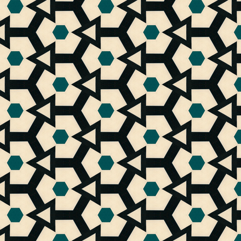 Retro Hexagons & Triangles fabric by stoflab on Spoonflower - custom fabric