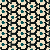 Retro Hexagons & Triangles
