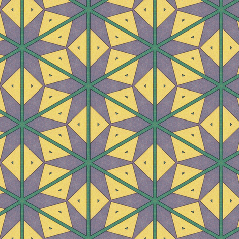 Vintage Yellow Diamonds fabric by stoflab on Spoonflower - custom fabric