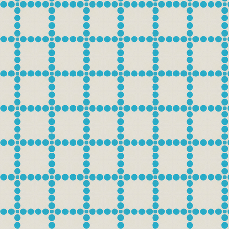 Retro Blue Dot Grid fabric by stoflab on Spoonflower - custom fabric