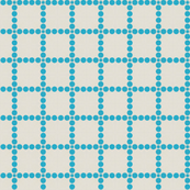 Retro Blue Dot Grid