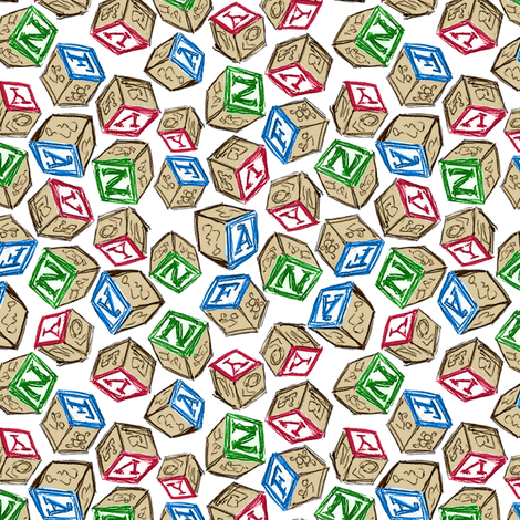 Blocks fabric by siya on Spoonflower - custom fabric