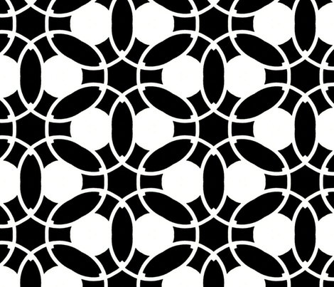 Black & White Chain Large fabric by stoflab on Spoonflower - custom fabric