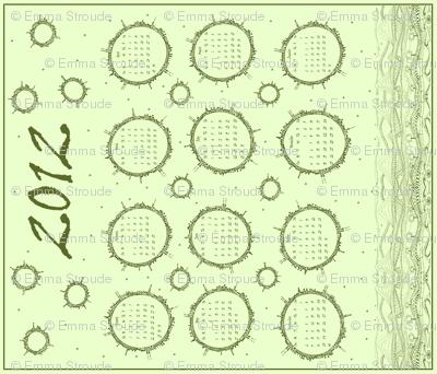 Planet Doodle Calendar 2012 (sage green)