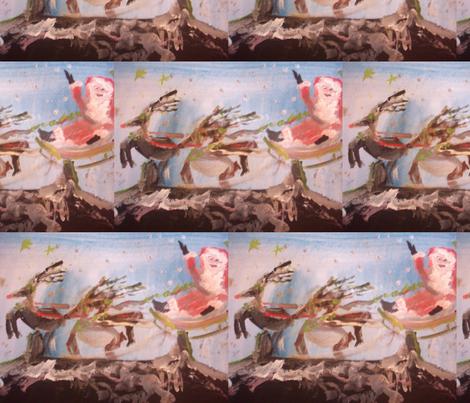 Santas world fabric by myartself on Spoonflower - custom fabric