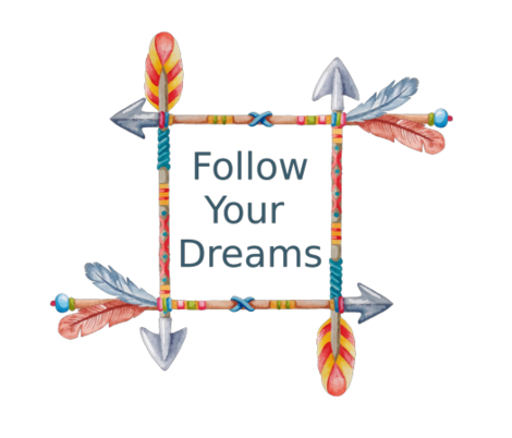 Follow Your Dreams Tribal Art fabric by icarpediem on Spoonflower - custom fabric