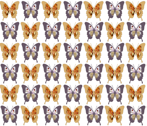 Vintage Butterfly fabric by icarpediem_ on Spoonflower - custom fabric