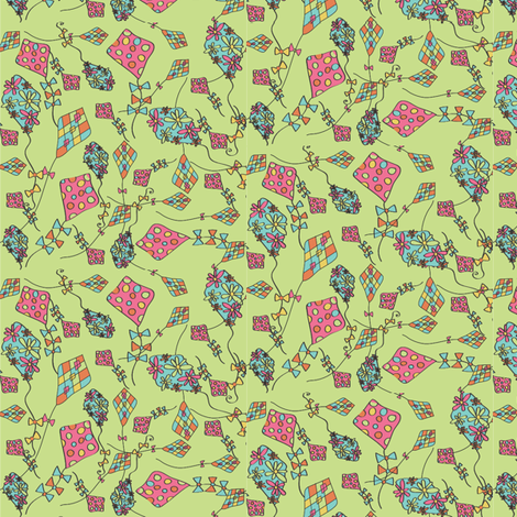 comeflywithme fabric by krydell on Spoonflower - custom fabric