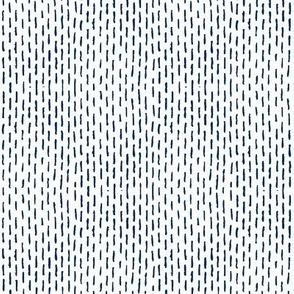 Navy Darning Stripes