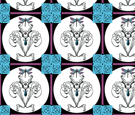art_nouveau fabric by glanoramay on Spoonflower - custom fabric