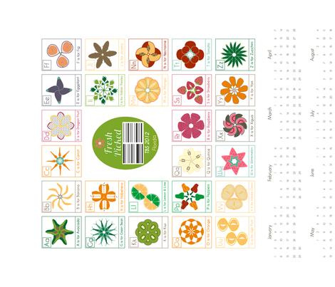Fresh_Picked_ABC_Calendar_Cotton/Linen fabric by threebysea on Spoonflower - custom fabric