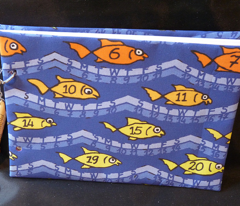 Fish calendar 2012 towel