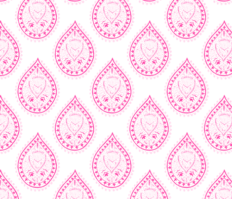 Mumbai in fuschia fabric by domesticate on Spoonflower - custom fabric