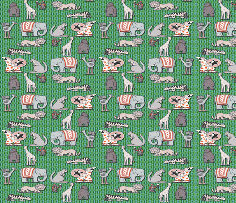 Circus Animals  fabric by icarpediem_ on Spoonflower - custom fabric