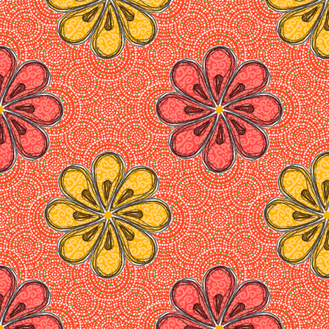 Valencia Flowers fabric by siya on Spoonflower - custom fabric