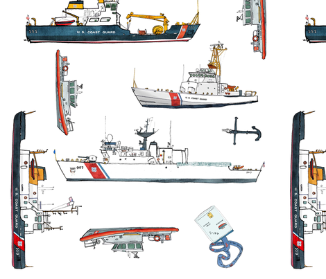Semper Paratus fabric by bowsprite on Spoonflower - custom fabric