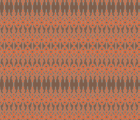 Orange Ornament fabric by thirdhalfstudios on Spoonflower - custom fabric