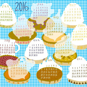 2016 Pie-of-the-month Calendar