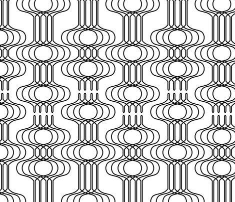 Mingle Black & White fabric by thirdhalfstudios on Spoonflower - custom fabric
